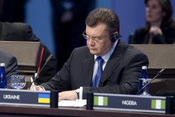 Ukrainian President Viktor Yanukovych attends the Nuclear Security Summit in Washington