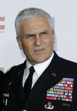 General George Casey arrives at the Stand Up For Heros Event at the Beacon Theatre in New York