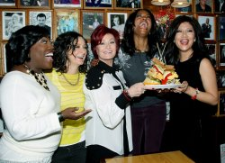 "The hosts of ""The Talk"" presents sandwich named after their television show in New York"