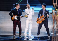 Jonas Brothers perform at the 2013 Miss USA competition in Las Vegas