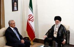 Lebanon's President Michel Sleiman meets with Iran's Supreme leader Ayatollah Ali khamenei