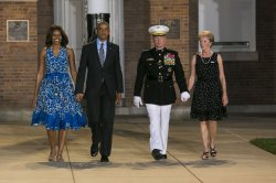 President Obama and First Lady Attend Marine Barracks Evening Parade