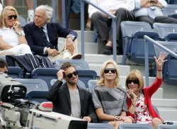 Anna Winitour and Ralph Lauren attend the US Open Tennis Championship in New York