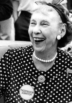Mamie Eisenhower at a GOP fundraiser for Richard Thornburgh.