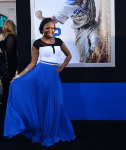 """Naturi Naughton attends the """"42"""" premiere at in Los Angeles"""