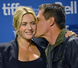 Kate Winslet and Josh Brolin attend 'Labor Day' press conference at the Toronto International Film Festival