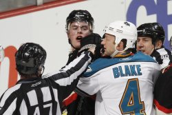 Refs hold back Blackhawks 'Toews and Sharks' Blake in Chicago