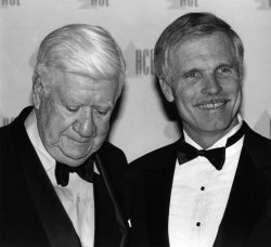 """Ted Turner presented with ACE Award by """"Tip"""" O'Neill"""