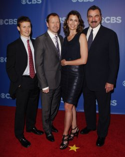 Actors Tom Selleck, Bridget Moynahan, Donnie Wahlberg and Will Estes arrive at the 2010 CBS Up Front at Lincoln Center in New York