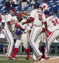 Philadelphia Phillies Jimmy Rollins win the game with a RBI.
