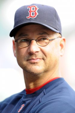 Francona in the Dugout in Baltimore, MD
