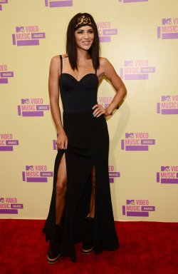 Jessica Szohr attends the 2012 MTV Video Music Awards in Los Angeles