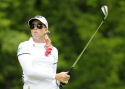 Paula Creamer plays in the third round of the Wegmans LPGA Championship at Locust Hill Country Club in New York