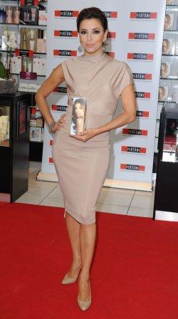 Eva Longoria Parker attends a perfume signing