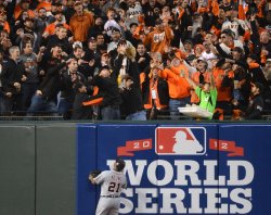Detroit Tigers vs San Francisco Giants in Game one of the World Series in San Francisco