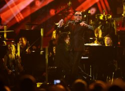 George Michael performs in London
