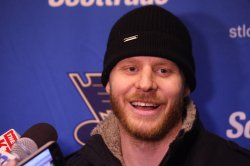 New St. Louis Blues players meets the media