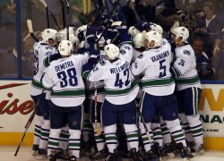 Vancouver Canucks vs St. Louis Blues Playoff hockey