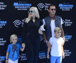 """Gwen Stefani and Gavin Rossdale attend the """"Monsters University"""" premiere with their sons in Los Angeles"""