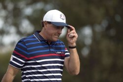 Phil Mickelson during a Ryder Cup Practice Round