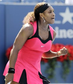 Serena Williams and Anastasia Pavlyuchenkova compete in quarterfinals at the U.S. Open in New York