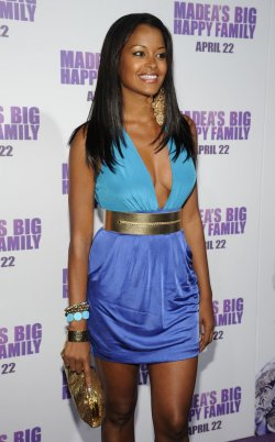 "Claudia Jordan attends the premiere of the film ""Madea's Big Happy Family"" in Los Angeles"