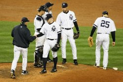 New York Yankees Texas Rangers ALCS Game 3 held in New York