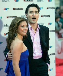 JUSTIN AND SOPHIE TRUDEAU AT JUNO MUSIC AWARDS IN HALIFAX