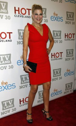 Kristen Johnston arrives for TV Land's Holiday Premiere Party in New York