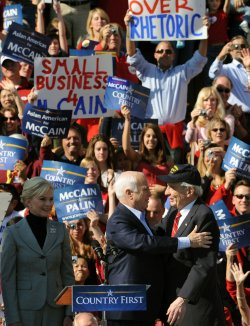 Sen. McCain campaigns in Springfield, Virginia
