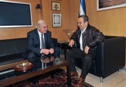 Israeli Defense Minister Barak meets with German Foreign Minister Steinmeier in Israel.