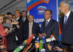 RUSSIAN PRIME MINISTER NOMINEE ZUBKOV SPEAKS WITH MEDIA IN MOSCOW