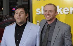 "Nick Frost and Simon Pegg attend the premiere of ""Paul"" in Hollywood"
