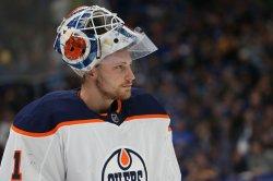 Edmonton Oilers goaltender Laurent Brossoit