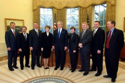 BUSH MEETS WITH DISCOVER CREW FROM STS-114