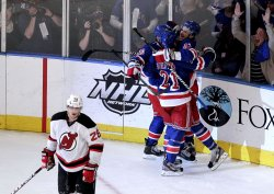 New York Rangers defeat the New Jersey Devils in game 1 of the Eastern Conference Finals at Madison Square Garden in New York