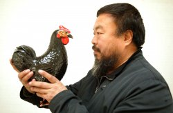 Chinese artist Ai Weiwei poses for a portrait in Beijing