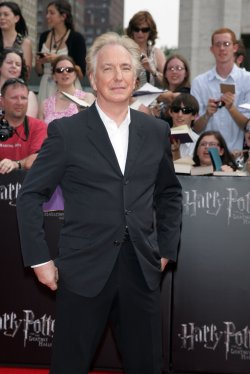 "Alan Rickman arrives at ""Harry Potter and the Deathly Hallows - Part 2 Premiere in New York"