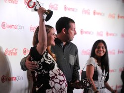Drew Barrymore and Adam Sandler arrive at the 2014 CinemaCon Awards Ceremony in Las Vegas