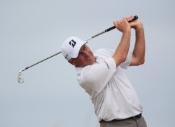 Fred Couples drives the ball on the 8th tee at the Open Championship