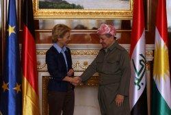 German Defense Minister Ursula Von Der Leyen Visits Iraq