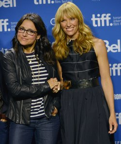 Julia Louis-Dreyfus and Toni Collette attend 'Enough Said' press conference at the Toronto International Film Festival