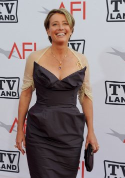Emma Thompson arrives at the AFI Lifetime Achievement Awards in Culver City, California
