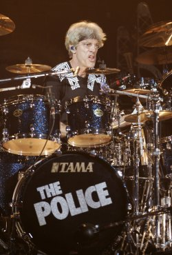 The Police perform in concert in West Palm Beach, Florida