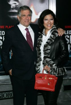 "Les Moonves and wife Julie Chen arrive for the Premiere of ""Shutter Island"" in New York"