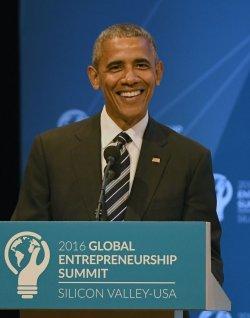 President Barack Obama speaks at the GES 2016 at Stanford