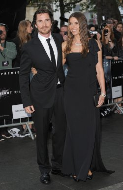 "Christian Bale and Sandra Blazic attend the European premiere of ""The Dark Knight Rises"" in London"