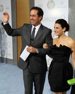 "Jerry Seinfeld and Jessica Seinfeld arrive at the ""Sex And The City 2"" premiere at Radio City Music Hall in New York"