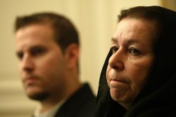 Wife of missing ex-FBI agent holds a press conference in Tehran.