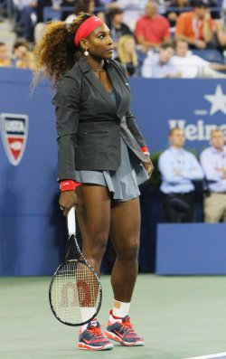 Serena Williams vs Francesca Schiavone at the U.S. Open in New York
